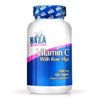 High potency vitamin c 1,000mg with rose hips - 100 tabs - Haya Labs