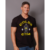 Camiseta Classic Joe Cuello en V - Gold's Gym