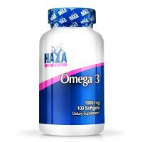 Omega-3 1000mg envase de 100 softgels de Haya Labs (Fuente Animal)