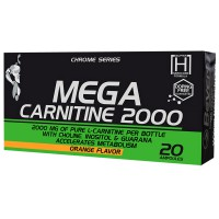 Mega carnitine 2000 - 20 ampoules - Beverly Nutrition