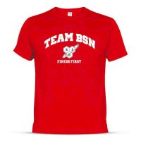 T-Shirt BSN Strong - Rouge - Faites vos achats online sur MASmusculo