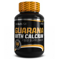 Guarana with calcium - 60 caps- Buy Online at MOREmuscle
