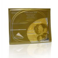 Golden facial mask with collagen