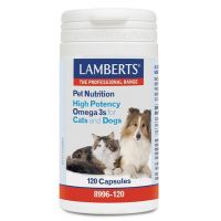 Pet nutrition (high potency omega 3s for cats and dogs) - 120 caps - Lamberts