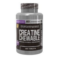 Creatina Masticable - 180 tabletas [Nutrytec Platinum Series]
