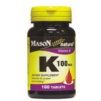 Vitamina K 100mcg (Mason Natural) - 100 tabletas [mason natural]