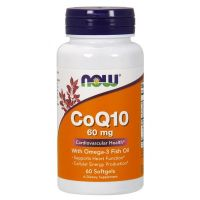 CoQ10 60mg con Omega 3 - 60 softgels [now foods]
