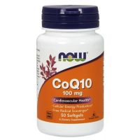 Coq10 100mg - 50 softgels - Now Foods