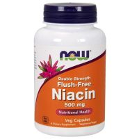 Niacina 500mg - 180 cápsulas vegetales [now foods]