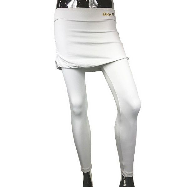 Legging white with skirt
