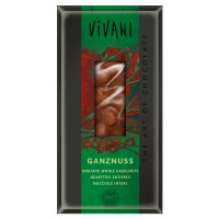 Milk chocolate with whole hazelnuts bio - 100g - Compre online em MASmusculo