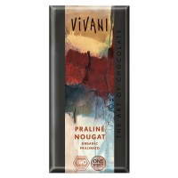 Milk chocolate with nougat of hazelnuts filling praliné bio - 100g- Buy Online at MOREmuscle