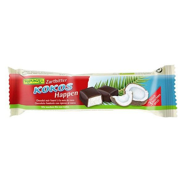 Coconut dark chocolate bar rapunzel - 50g