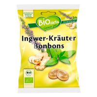 Ginger and herbs candies biodeta - 75g Biocop - 1