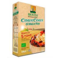 Cous cous corn rice 5 minutes biovita - 500g - Compre online em MASmusculo