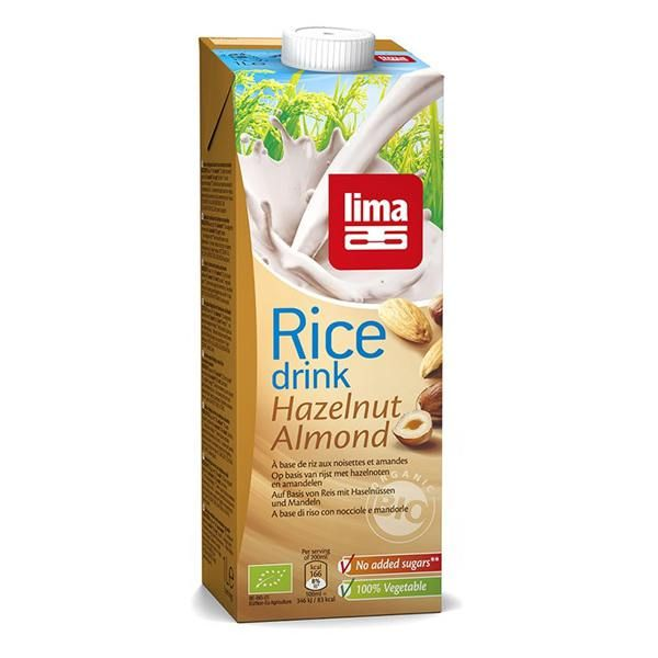 Rice drink with hazelnut and almond lima - 1l