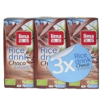 Bebida de arroz rice drink choco lima - 3 x 200ml [biocop]