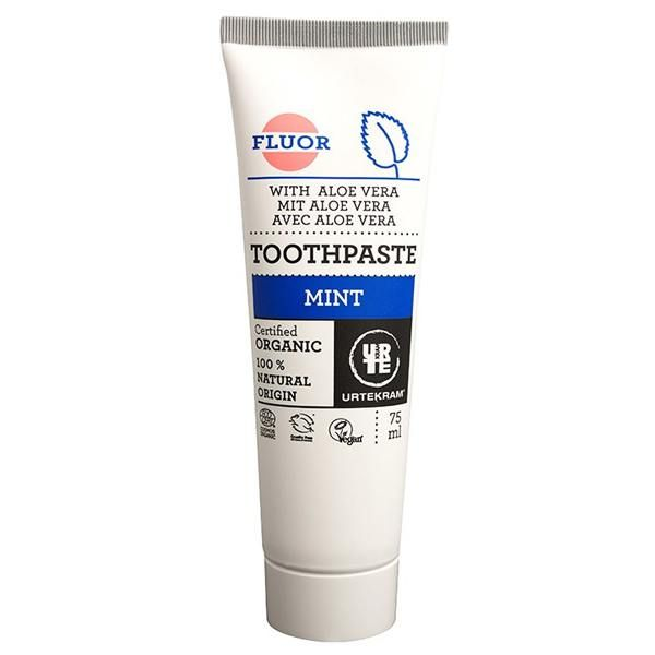 Toothpaste menta-aloe with fluoride urtekram - 75 ml