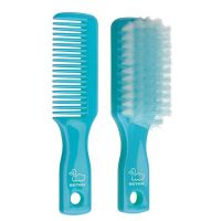 Baby hair brush and comb set -13.8 x 2.5 cm