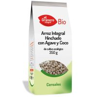 Integral rice puffed with agave and coco bio - 350 g- Buy Online at MOREmuscle
