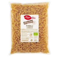 Fusilli of 4 cereals gluten free bio - 500 g- Buy Online at MOREmuscle