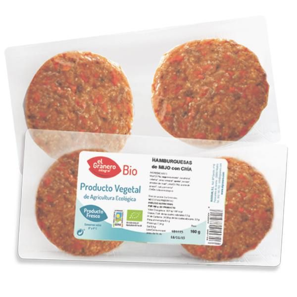 Millet vegetable burger with chia bio (f) - 160 g