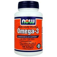NOW Omega-3 1000 mg envase de 200 comprimidos de Now Foods (Fuente Animal)