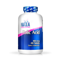 Folic acid 800mcg - 200 tabs