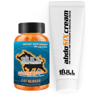Abdo SIX stack (Gel 200ml + Fettverbrenner 90 Kapseln) - Bull Sport Nutrition