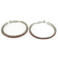Fine red hoop earrings - Saleyla