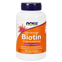 Biotin 10mg - 120 veg capsules - Now Foods