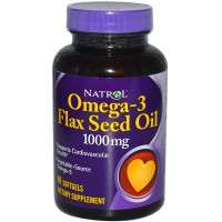 Flax Oil Omega 3 - 1000 mg - 120 softgels