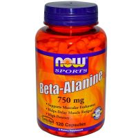 Beta Alanina 750mg de 120 caps del fabricante Now Foods (Beta-Alanina)