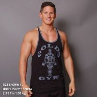 men's tanks muscle joe contrast stringer - Gold's Gym