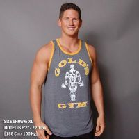 Camiseta Atleta Muscle Joe Premium Contraste de Gold's Gym