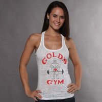 Gym Joe Classic Discolored Girl T-Shirt Gold's Gym - 8