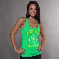 camiseta chica gym joe classic neon decolorada