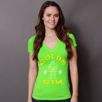 Camiseta Chica Pico Neon Joe Classic de Gold's Gym