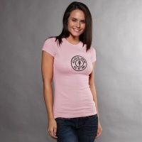 camiseta chica simple logo