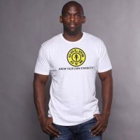 camiseta logo slogan - Gold's Gym
