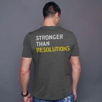 camiseta stronger than resolution - Gold's Gym