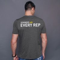 Stronger With Every Rep T-Shirt- Buy Online at MOREmuscle
