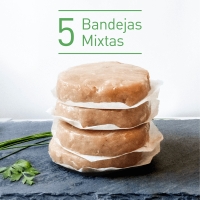 pack 5 bandejas burguer fit pollo