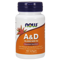 Vitamina A&D 10,000/400IU - 100 softgels [Now Foods] - Now Foods