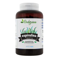 Powdered bio spirulina algae - 375 tablets - Gudgreen
