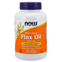 Flax oil 1000 mg high lignan - 120 softgels - Now Foods