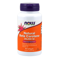 Beta carotene natural 25,000 iu - 90 softgels - Now Foods