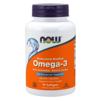 Omega-3, molecularly distilled & enteric coated - 90 softgels - Now Foods
