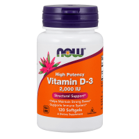 Vitamina D-3 2000 IU - 120 Softgels [Nowfoods] - Now Foods