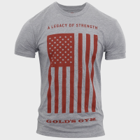 Legacy of strength flag tee - Gold's Gym